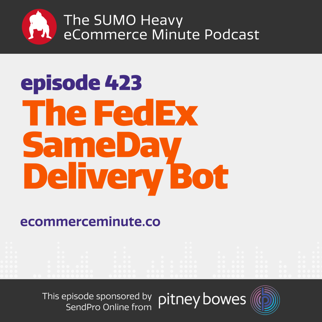 Listen to the eCommerce Minute episode 423 on Anchor.fm/ecommerceminute