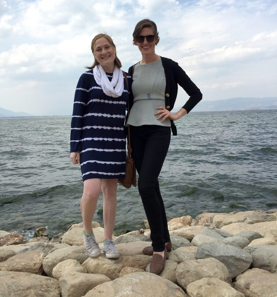 Carolyn Horner and Eve Ackerly of Jenzy in China